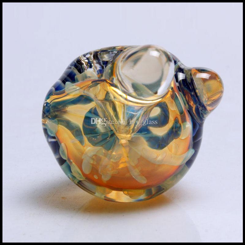 Heißer Verkauf Glashandrohr bunte Glasrohre Tabakpfeifen dicke Glaslöffel Rohr hohe Qualität Großhandel auf Lager freies Verschiffen Raucher
