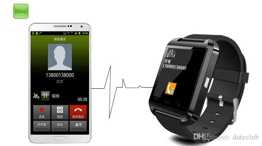 U8 Smart Watch Bluetooth Phone Mate Smartwatch Perfect for Android for 4S/5/5S for S4/S5/Note 2/Note4 DHL