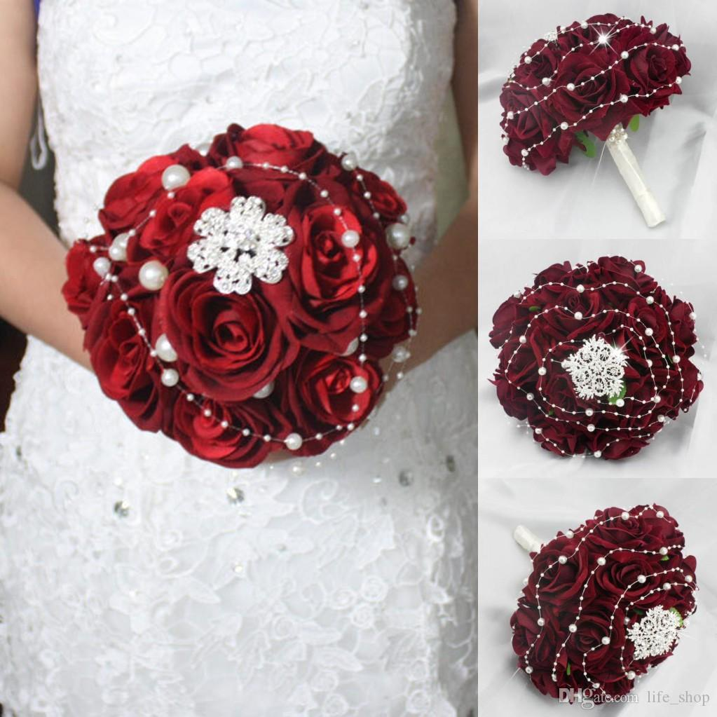 2016 wedding bouquet rose holding flowers handmade diamond pearl 2016 wedding bouquet rose holding flowers handmade diamond pearl hand holding flower wedding bouquet hand holding flower bouquet flowers online with izmirmasajfo