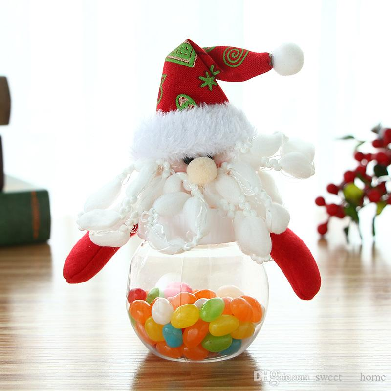 2018 The new Christmas candy jar small round star shaped doll candy box gift candy box