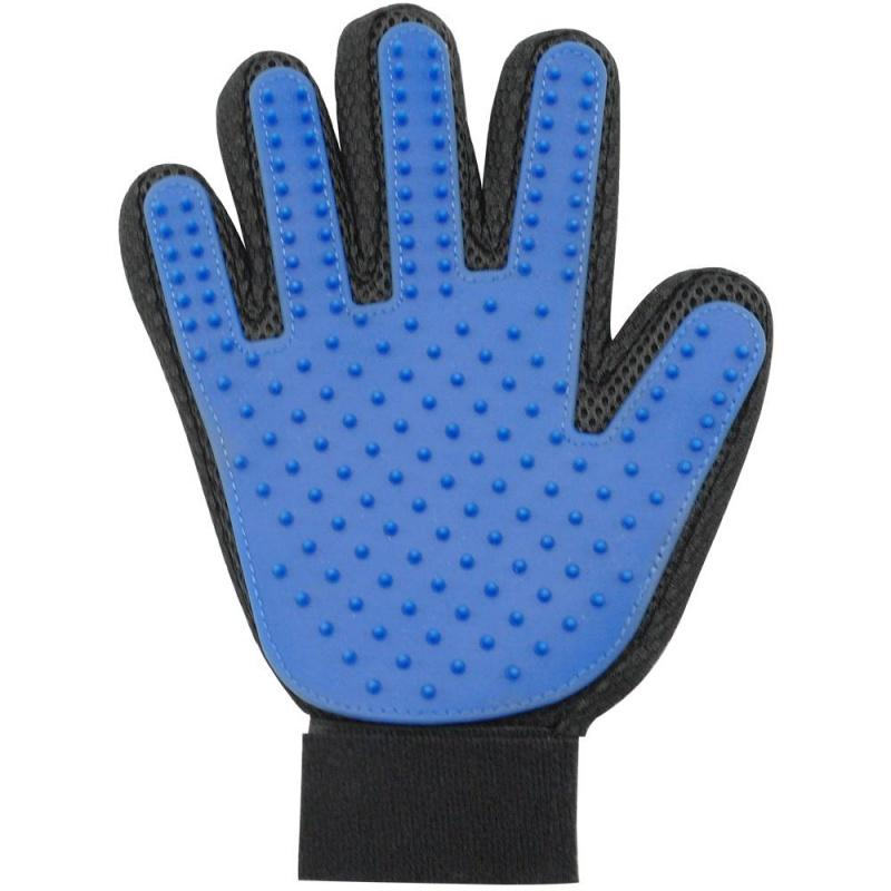 Wholesale- Pet Dog Cat Brush Glove Mitt Deshedding Glove for Gentle Pet Grooming Massage Bathing Brush Comb 3 Color