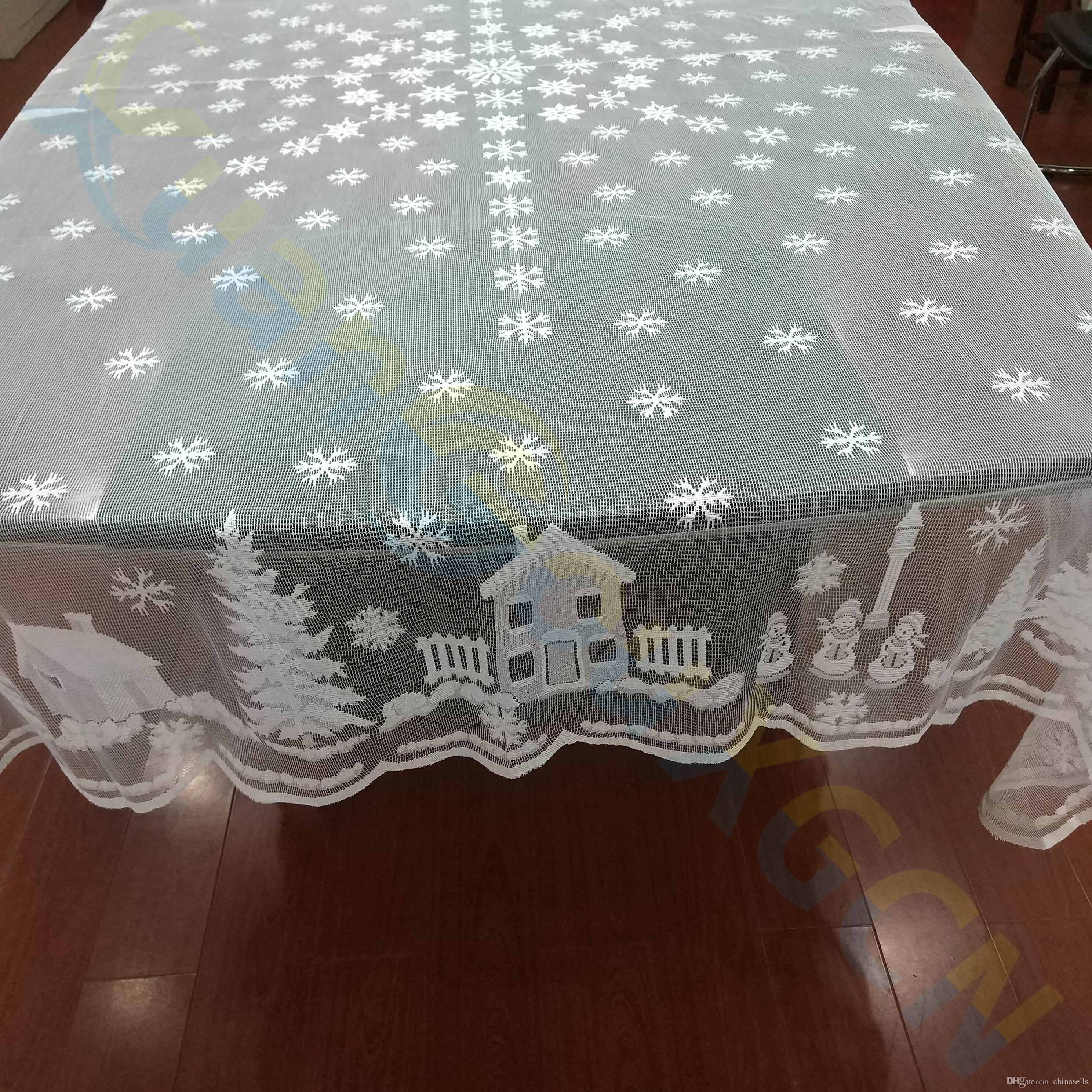 Xmas Ornaments home party Tablecloth Table cover cloth Table Décor lace Placemat Hotel bar dinner Christmas decoration