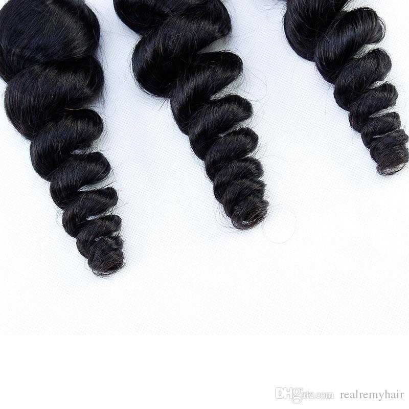 Brazilian Loose Wave With Closure Cheap Human Hair Bundles With Closure 3 Bundles With Closure Brazilian Loose Wave Virgin Hair Vendors