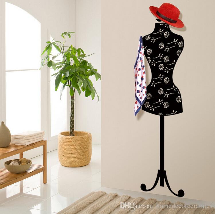 acheter mannequin amovible mural mont habillement v tements chapeau de veste charpe porte sac. Black Bedroom Furniture Sets. Home Design Ideas