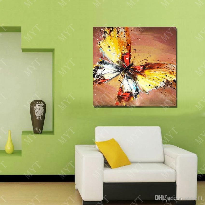 Hand drawing beautiful butterfly picture for living room wall decoration abstract wall picture no frame wood