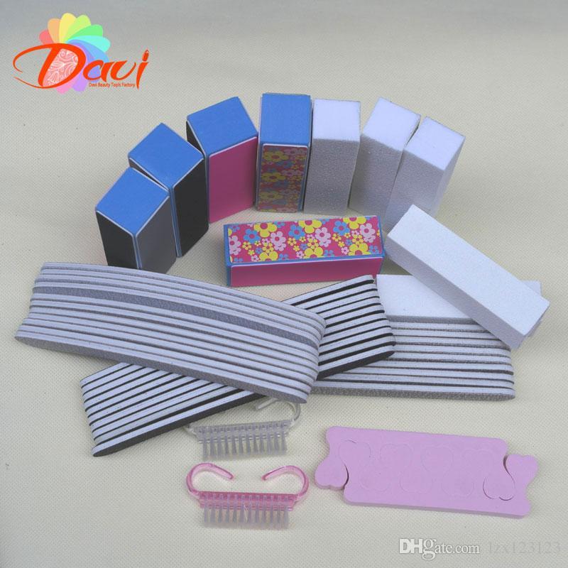 kit unghie in plastica Set lima levigare Blocco tampone manicure Manicure unghie Strumenti unghie la cura delle unghie