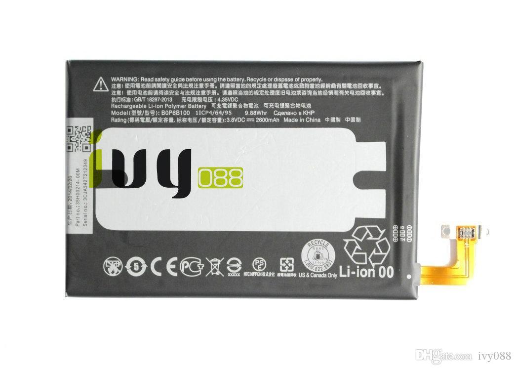 2 adet / grup Için 2600 mAh BOP6B100 Yedek Pil HTC ONE 2 M8 W8 E8 M8T M8W M8D M 8 M8x M8ST M8SD M8SW M8 Ace Bir Max Piller