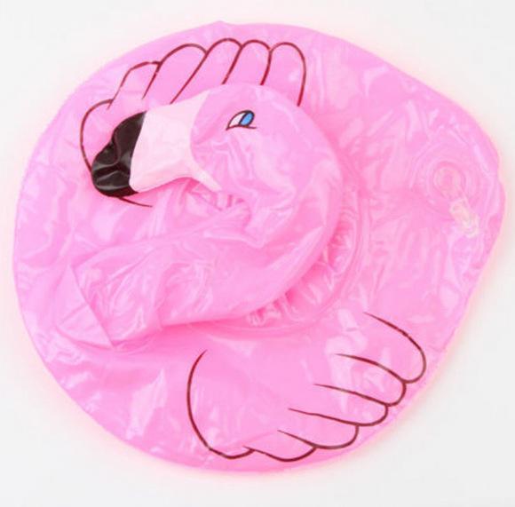 Flamingos-aufblasbarer Getränk-Schalen-Halter-Flaschen-Halter-Rosa-sich hin- und herbewegender Dosenhalter-reizendes Pool-Bad-Spielzeug /