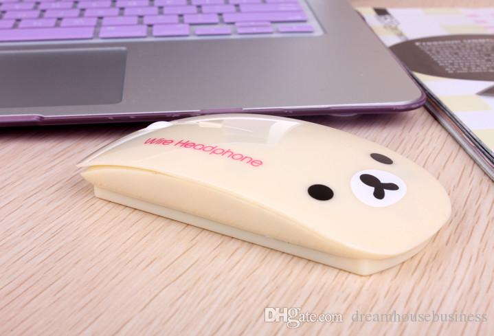 Factory Supply Fashion Rilakuma Designer USB Wired Mouse With Pad Cartoon Mice For Computer PC Laptop Desktop
