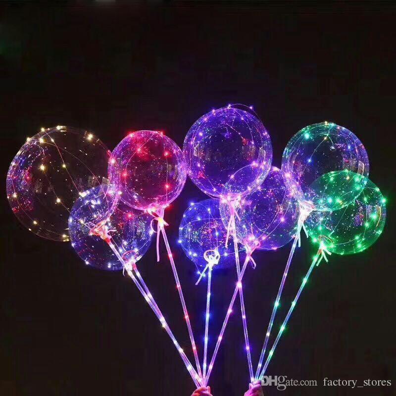 Led Light Luminous Balloon Transparent Flashing Balloon