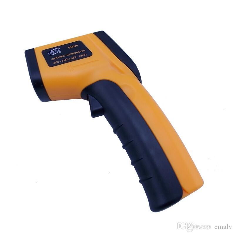 20X Termômetro infravermelho Digital IR Pirômetro Laser Point themperature arma sem contato frete grátis 330 graus