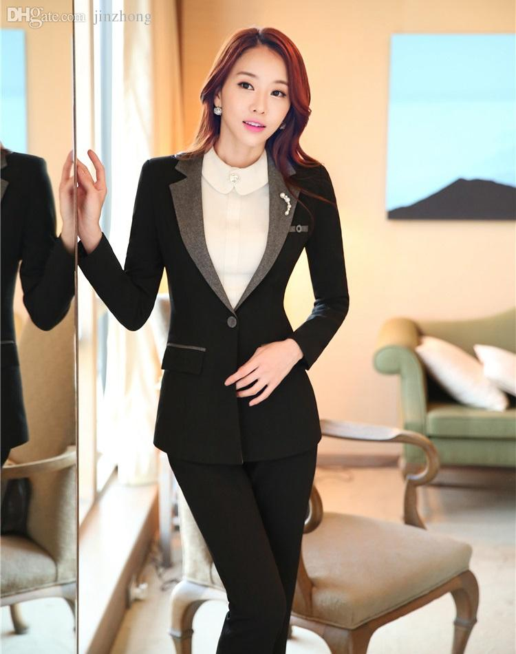 2019 Wholesale Formal Ladies Pant Suits For Women Business Suits