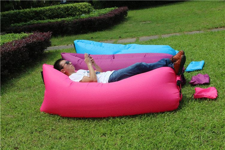 Online Cheap Fast Dhl Inflatable Sleeping Air Bag For Beach ...