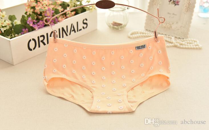 Top de alta qualidade mais barato Floral calcinhas de algodão Mid-cintura todos os dias brisfs moda feminina underwear