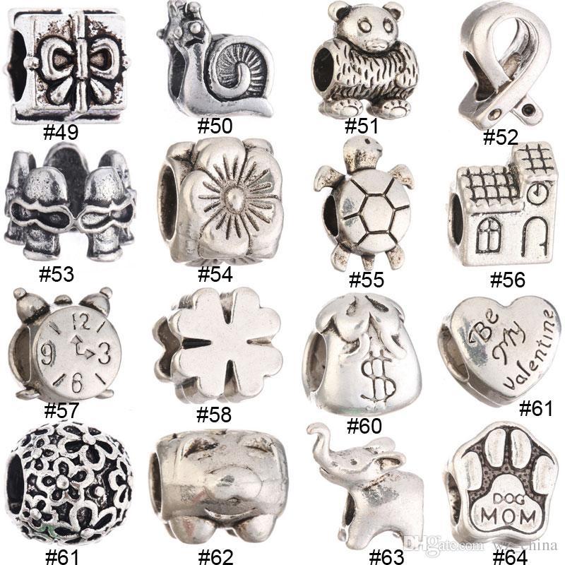 Charms Eagle Beads Fashion Jewelry Loose Ball Bead misura braccialetti europei fai da te donne collane regali # 9