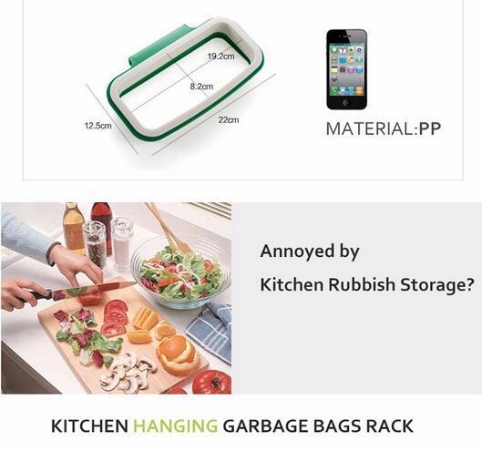 Hoomall Brand Müllsack Lagerregal Hängen Küchenschrank Tür Zurück Stehen Müll Müllsäcke Lagerregal Tasche Clip