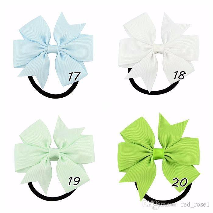 3-Zoll-süßes feste Band beugt Baby Elastics Haar-Seil-Haar-Riegel Kopfbedeckungen für Kinder Haarschmuck