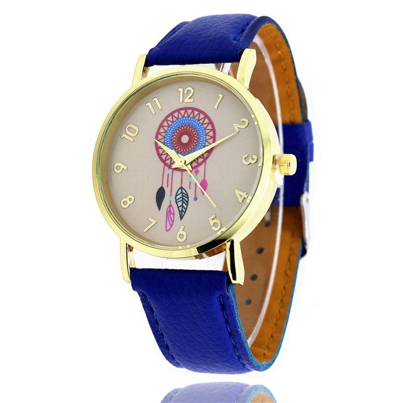 b8243214d72d Compre Relojes De Pulsera Para Mujer Girasol Wind Chime Vestido De Moda  Relojes Reloj De Cuarzo De Cuero Personalidad Casual Reloj Vintage Relogio  W0097 A ...
