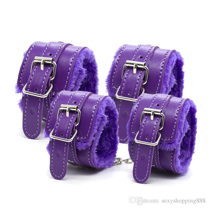 Purple Luxuary Top Grade Fetish Bondages Gear Sex Restraint Toy for Couples SM Adult Game Erotic Hogtie Sets Sexy Slave Torture