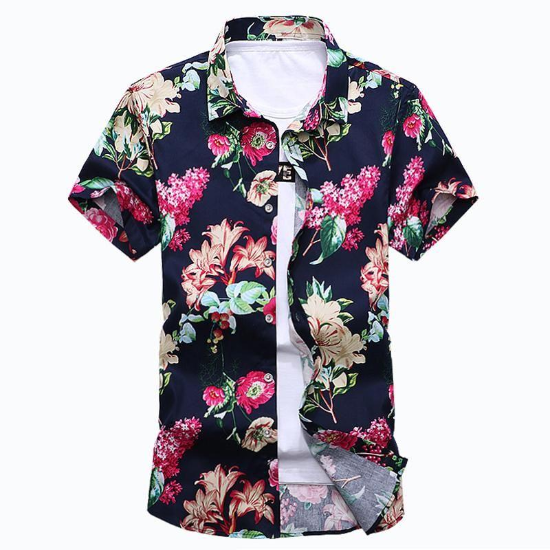 Men S Flower Shirt New Summer Fashion Print Short Sleeve Shirts Mens  Clothing Trend Casual Slim Fit Shirt Business Shirt 6XL 7XL YH 159 UK 2019  From Signor 11de2e830