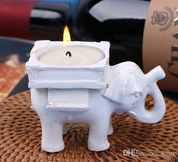 Lucky Elephant Candles Holder Tea Light Candles Holder Regalos de cumpleaños de la boda con candelita