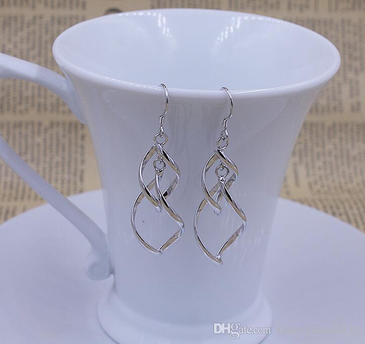 Gli orecchini d'argento 925 stupefacenti i monili degli orecchini di fascino di Ciondolo di goccia di modo S925 delle donne liberano il trasporto