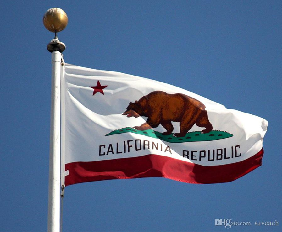 3*5 Feet California State Flag United States Flag Banner Outdoor Indoor Home Bar Decor 150X90 cm