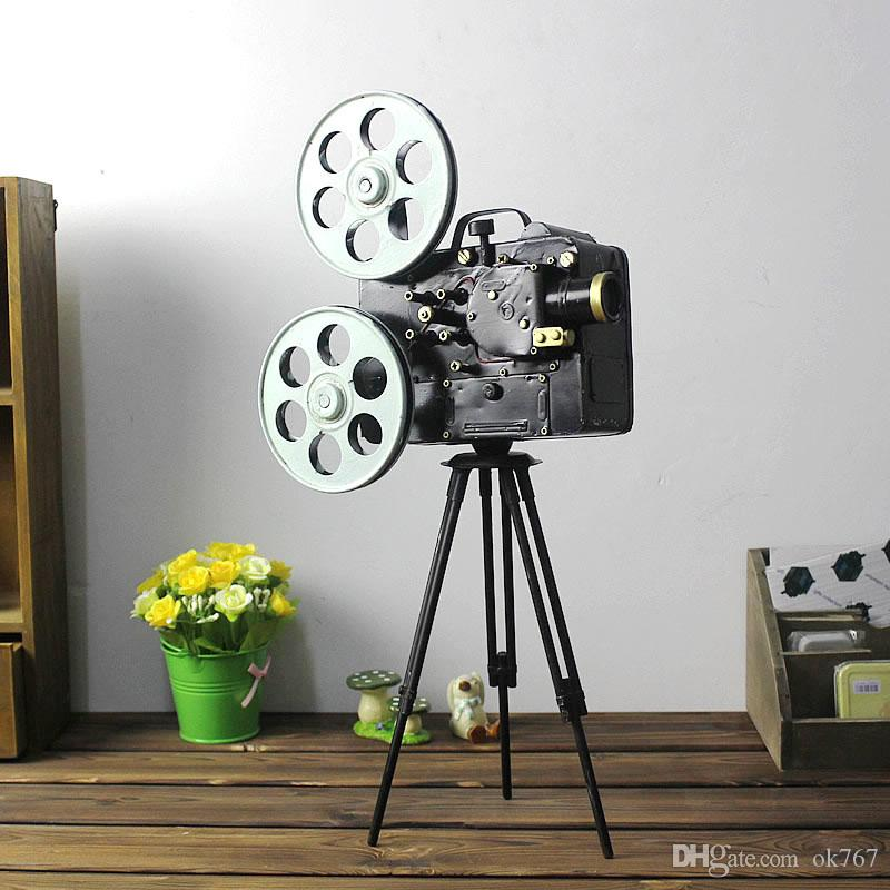 New Camera Model Tripod Photography Props Vintage Home Decor Antique Imitation Iron Crafts Gifts Home Decoration