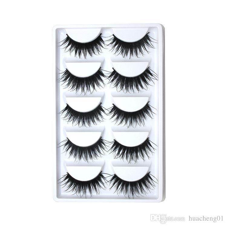 Lange Falsche Wimpern Handgemachte Gefälschte Wimpern Dicker Augenwimpern Make-Up-Tool Bühne Wimpernverlängerung von DHL