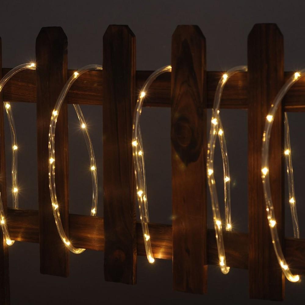 Transparent Soft Tube Copper Wire Led Solar String Light Waterproof 7M 50led Flexible Outdoor Garden Street Decoration