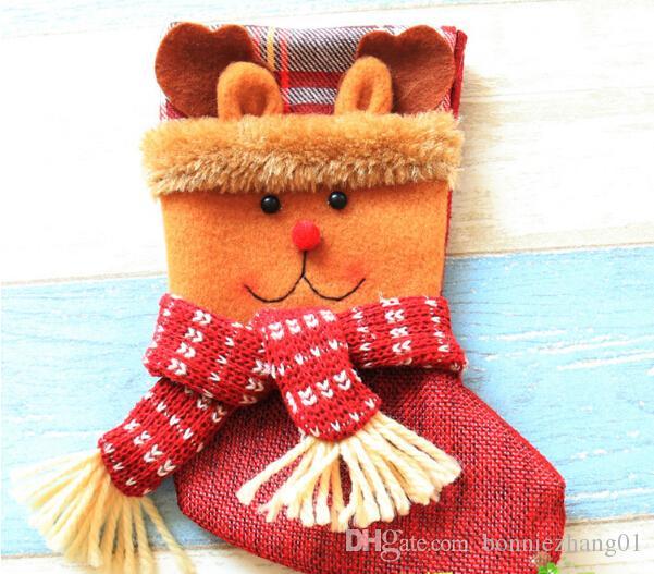 Weihnachtsweihnachtsmann-Strümpfe Spielzeug-Christbaumschmuck-Dekoration-Geschenksüßigkeitstasche