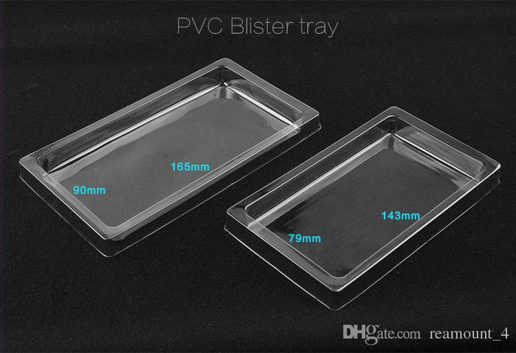 20 Stück nach Maß Universal Blank PVC-Verpackungsbox für iPhone 8 8 Plus Phone Case für Samsung Note8 Clear Packaging Box