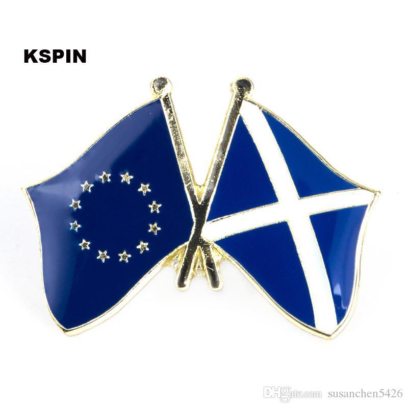 Unione europea Scozia amicizia Bandiera Badge Bandiera Pin XY0045