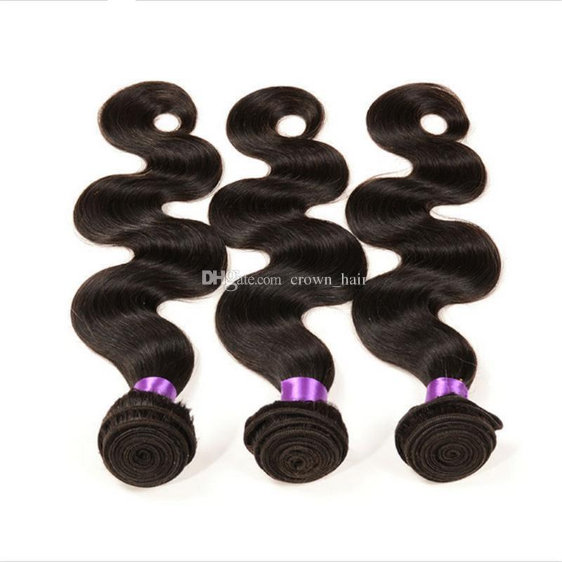 Freie mittlere drei Teil 13x4 Ohr zu Ohr volle Spitze Frontals mit Haarverlängerungen brasilianische 9A Körperwelle Haar Bundles mit Spitze Frontal
