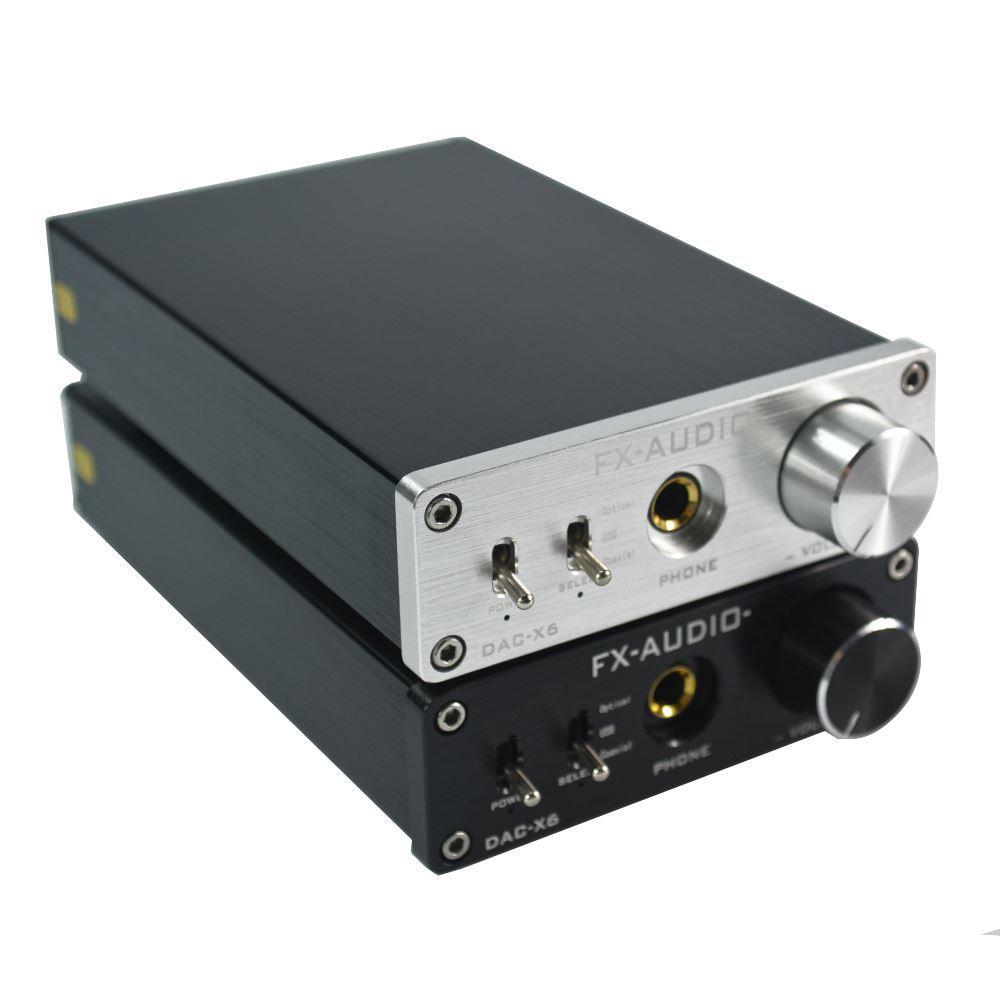 Acquista FX AUDIO DAC X6 HiFi 2.0 Decodificatore Audio Digitale DAC Input  USB   Coassiale   Uscita Ottica RCA   Amplificatore Cuffie 24Bit   192KHz  DC12V A ... 638833480d46