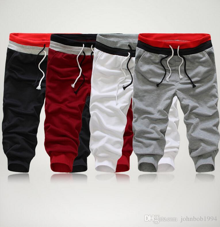 Men's 3/4 Knee Casual Jogger Sport Shorts Baggy Gym Harem Pants Hip Hop Pants Dance Pants Men outdoor basketball sweat pants