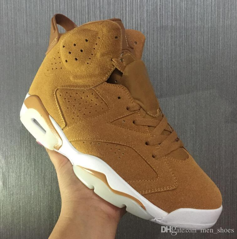 09320aa8f8f High Quality 6 6s Golden Harvest Wheat Basketball Shoes Men 6s Golden  Harvest Sports Sneakers With Shoes Box Basketball Shoes For Sale Basketball  Shoes ...