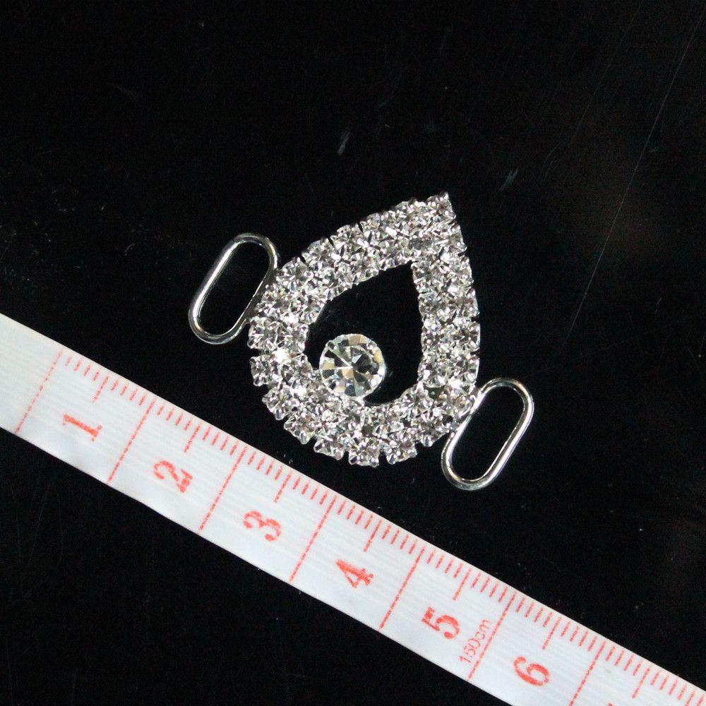 cristallo trasparente strass Bikini Connettori catena piccola fibbia costumi da nuoto Competizione Abiti Bikini Decorazione