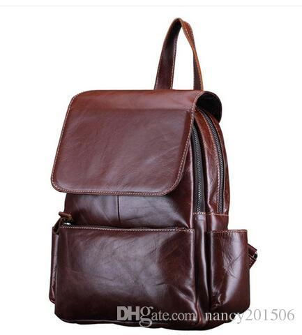 COWATHER Vintage 2017 Cow Genuine Leather Backpacks for Women Big Capacity  Exquisite Crafts Oil Wax Leather High Quality Women Backpack Online with ... 320ccf568ba45