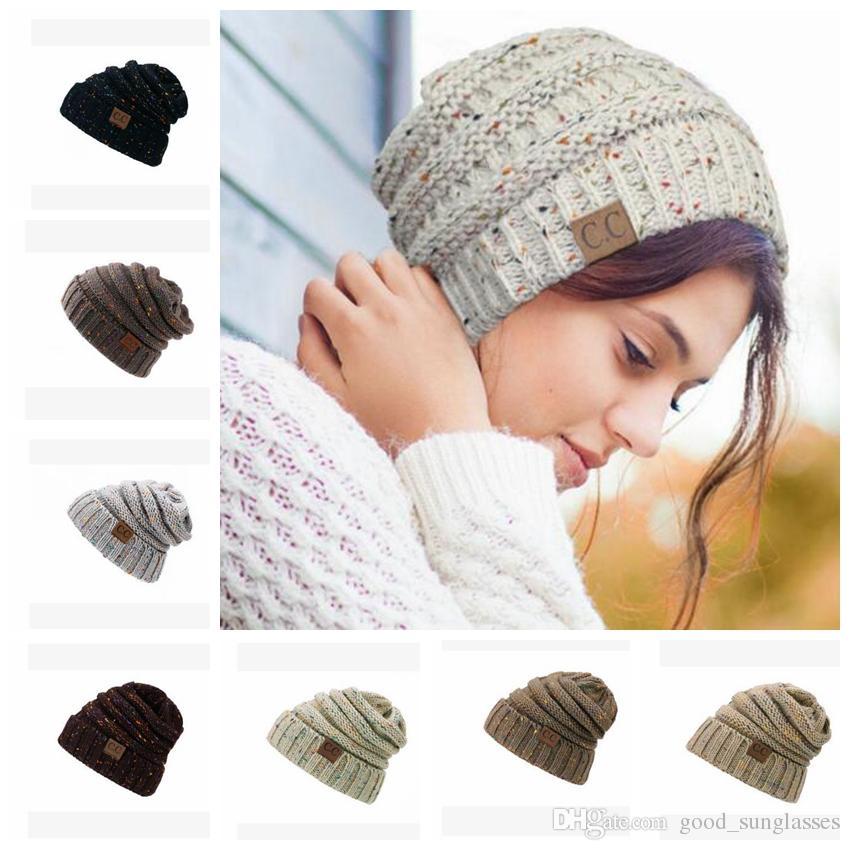 Womens Slouch Cc Beanie Cap Oversize Caps Knit Baggy Ski Hat Unisex