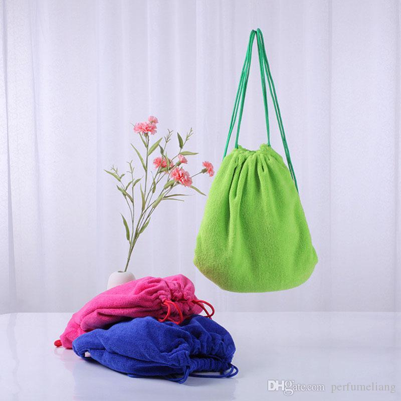 50 unids microfibra de algodón toalla de playa sacos monogramable toallas de natación funcional saco plegable 70X140 CM bolsa de verano regalos ZA0834