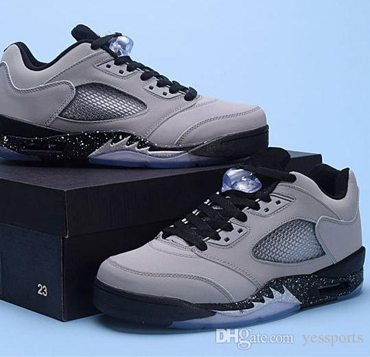 premium selection 353c7 89d05 Big Discount New Arrive Air Retro 5 V Low Wolf Grey Man Basketball Shoes AA  High Quality Wholesale Sizes 7 13 Free Shipping Sneakers