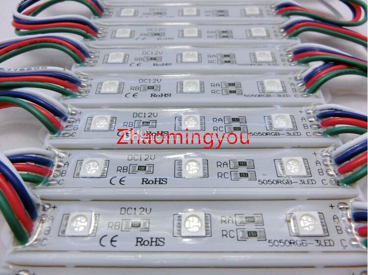 High power 5050 3 LED Module DC12V Waterproof advertisement design led modules lighting,