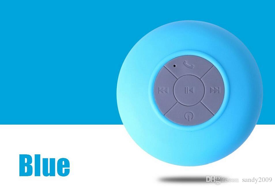2016 HOT New Portátil À Prova D 'Água Sem Fio Bluetooth Speaker Handsfree Do Carro Do Chuveiro Receber Chamada Música Sucção Telefone Mic Promoção