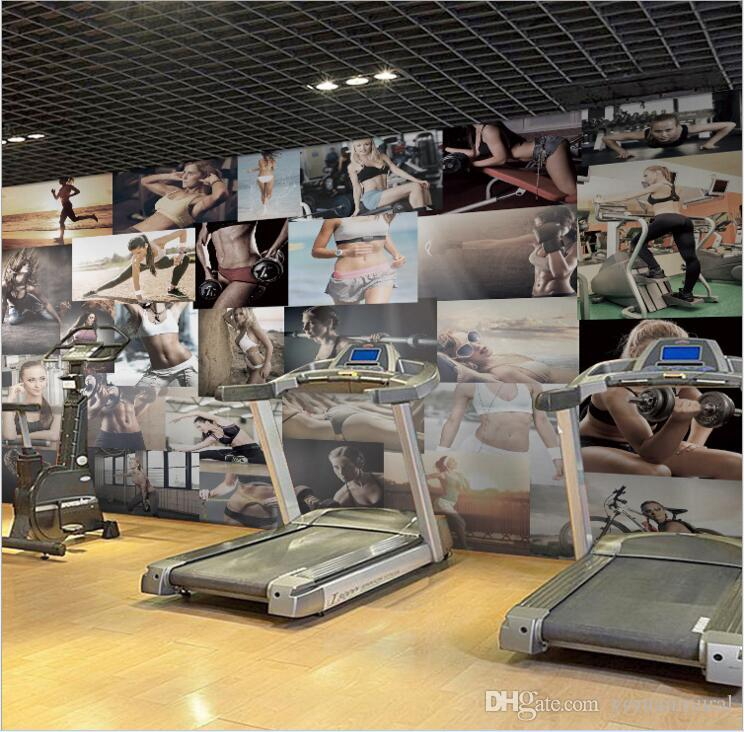 Gym sports body building exercise wallpapers for wall 3d livingroom