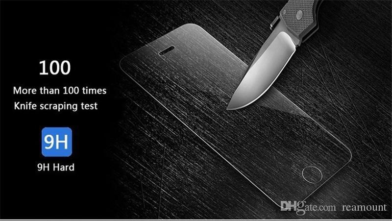 200 pz all'ingrosso di Alta Qualità 9 H 0.4mm Sottile LCD Clear Front Protector Pellicola Protettiva ZTE warp 7 N9519 Pellicola Protettiva DHL libero