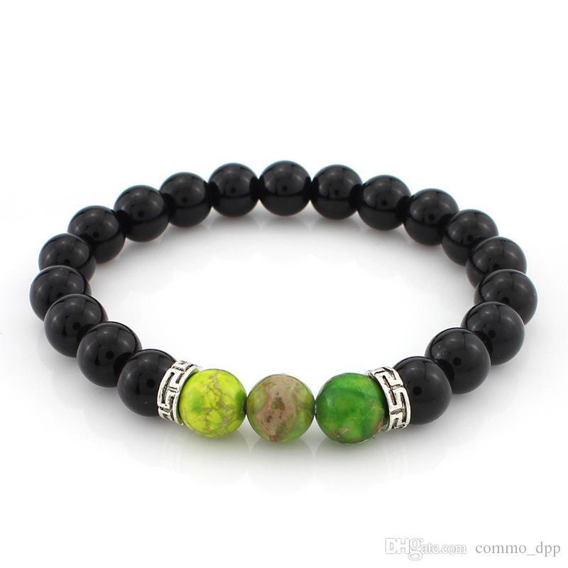 2016 Nueva Llegada Lava Rock Stone Beads Pulseras Fitness Pulseras de Moda brazalete Para las mujeres de Halloween mejor Regalo Al Por Mayor