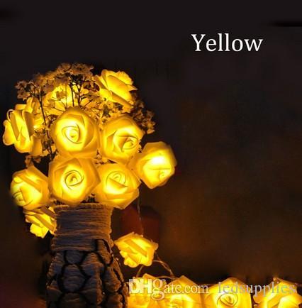 4m 40 luci di fata a Led Luci a pile di fiori Rose lampeggiante ghirlanda la decorazione del partito del giardino di nozze