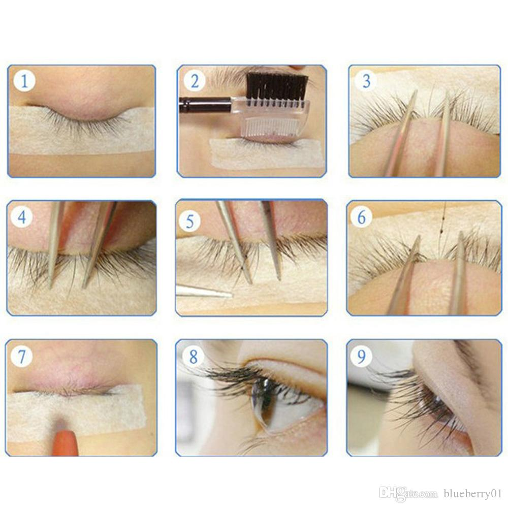 6/8/9/10/11/12/14mm 0.07 C Curl 3D Individual Mink False Eyelashes Extension Soft Black Fake False Eye Lashes