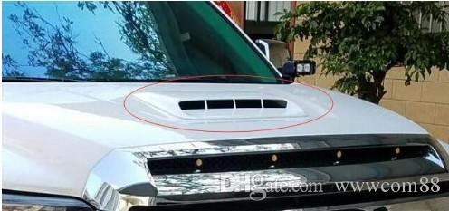 White/ black Universal Car Decorative Air Flow Intake Hood Scoop Vent Bonnet Cover Big style!